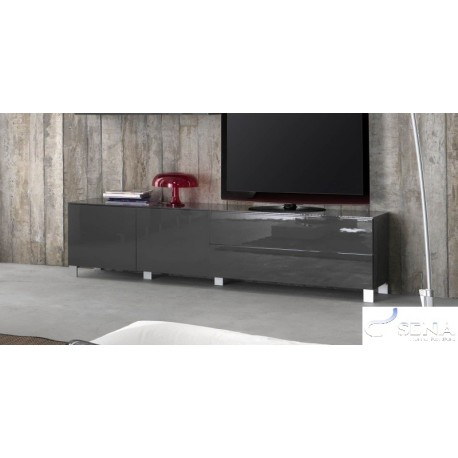 Latest High Gloss Tv Cabinets In Sofia Grey High Gloss Tv Stand Assembled – Tv Stands (2688) – Sena (Image 14 of 25)