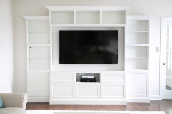 Latest Ikea Built In Tv Cabinets Pertaining To How To Design, Install, And Add Trim To An Ikea Besta Built In (Image 15 of 25)