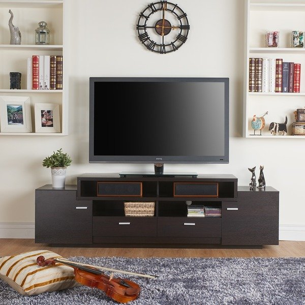 Latest Laurent 70 Inch Tv Stands In Shop Porch & Den Brickell 72 Inch Modern Tiered Tv Stand – On Sale (View 10 of 25)