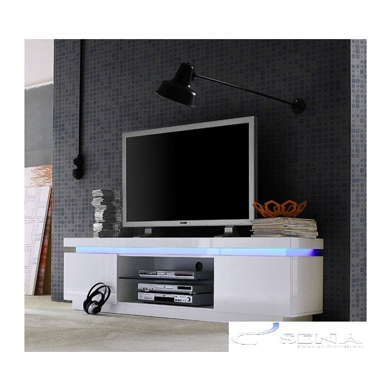 Latest Led Tv Cabinets Regarding Avanti Ii Gloss Tv Stand With Rgb Lights – Tv Stands (533) – Sena (View 22 of 25)