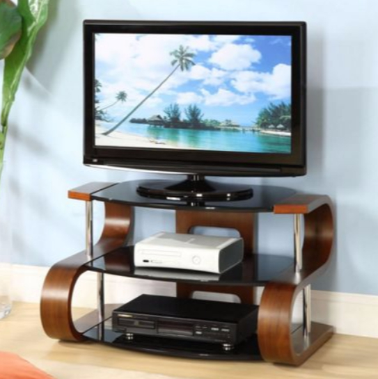 Latest Noah 75 Inch Tv Stands For 7 Glass Tv Stands For A Contemporary Living Room – Cute Furniture Uk (Image 14 of 25)