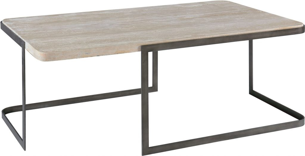 Latest Parsons Travertine Top & Elm Base 48X16 Console Tables Inside Parsons Coffee Table Modern Travertine – Cuthaton (Image 4 of 25)