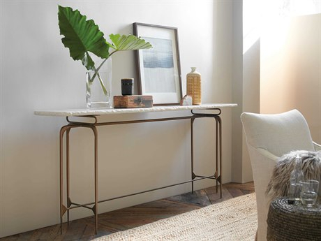 Latest Parsons White Marble Top & Stainless Steel Base 48X16 Console Tables Throughout White Console Tables (Image 8 of 25)