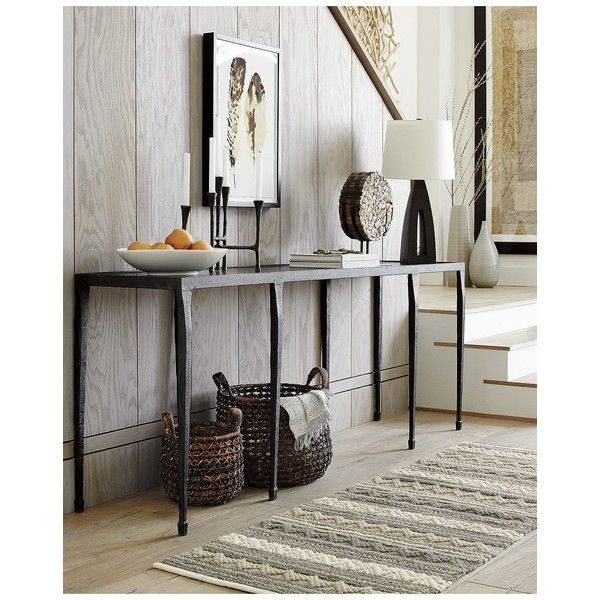 Latest Silviano 60 Inch Iron Console Tables For Silviano Console Table ❤ Liked On Polyvore Featuring Home (View 9 of 25)