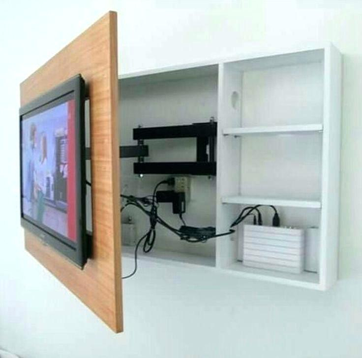 Latest Tv Wall Cabinets Pertaining To Wall Mount Tv Rack Motorized Wall Mount With Remote Tv Corner Wall (Image 12 of 25)