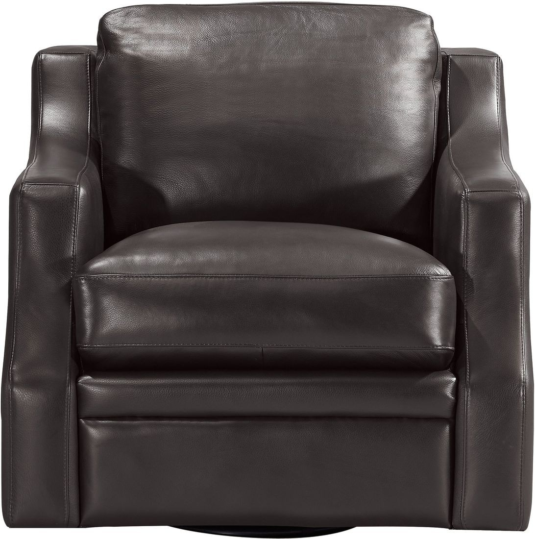 Leather Italia Grandview Swivel Chair In Espresso | Local Furniture Throughout Espresso Leather Swivel Chairs (Image 19 of 25)