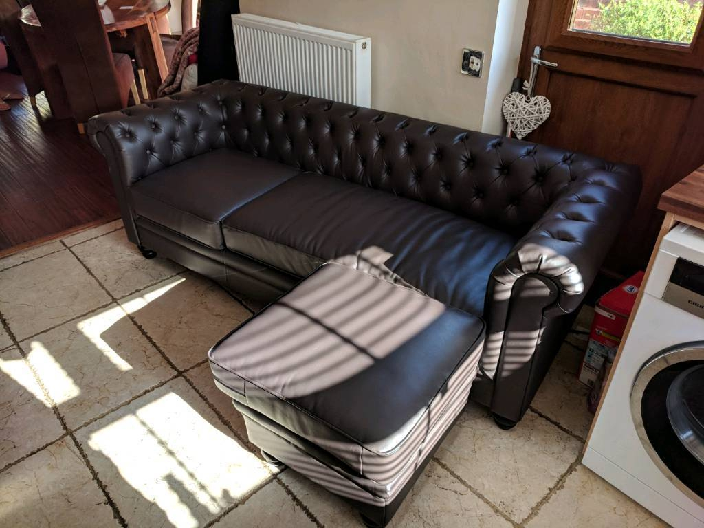 Leather Sofa | In Mansfield Woodhouse, Nottinghamshire | Gumtree Inside Mansfield Cocoa Leather Sofa Chairs (View 6 of 25)