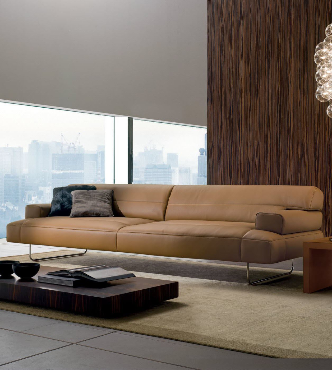 Leather Sofa / Modular / Corner / Contemporary – Chimeramatteo Intended For Matteo Arm Sofa Chairs (Image 8 of 25)