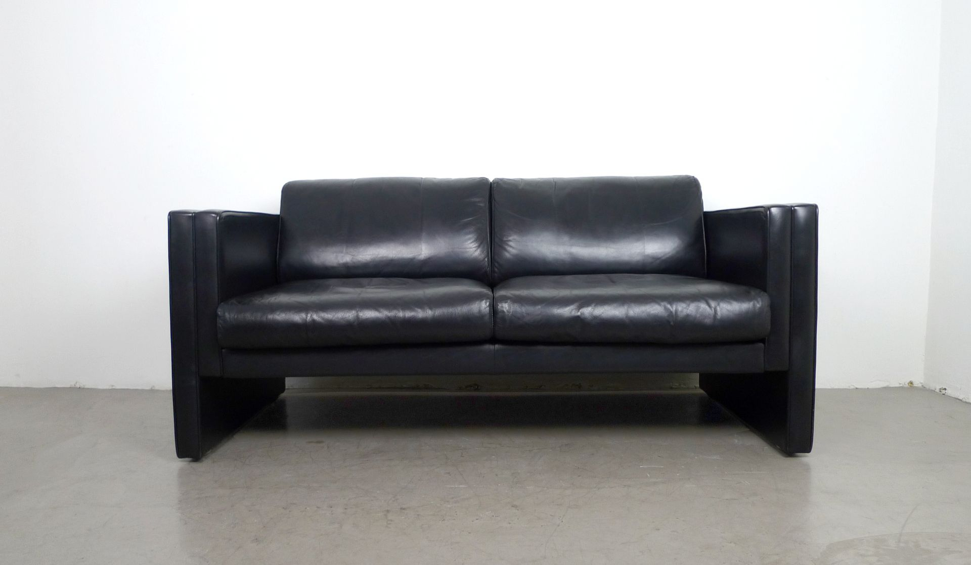 Leather Sofajürgen Lange For Walter Knoll, 1980S For Sale At Pamono In Walter Leather Sofa Chairs (View 8 of 25)