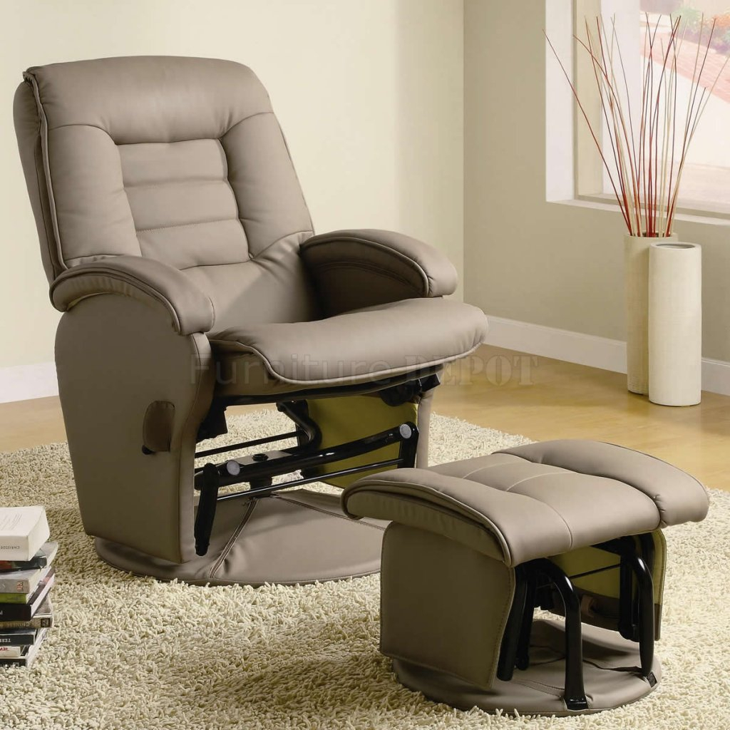 Leather Swivel Glider Chair — Paristriptips Design : Nursery Swivel Pertaining To Abbey Swivel Glider Recliners (View 12 of 25)