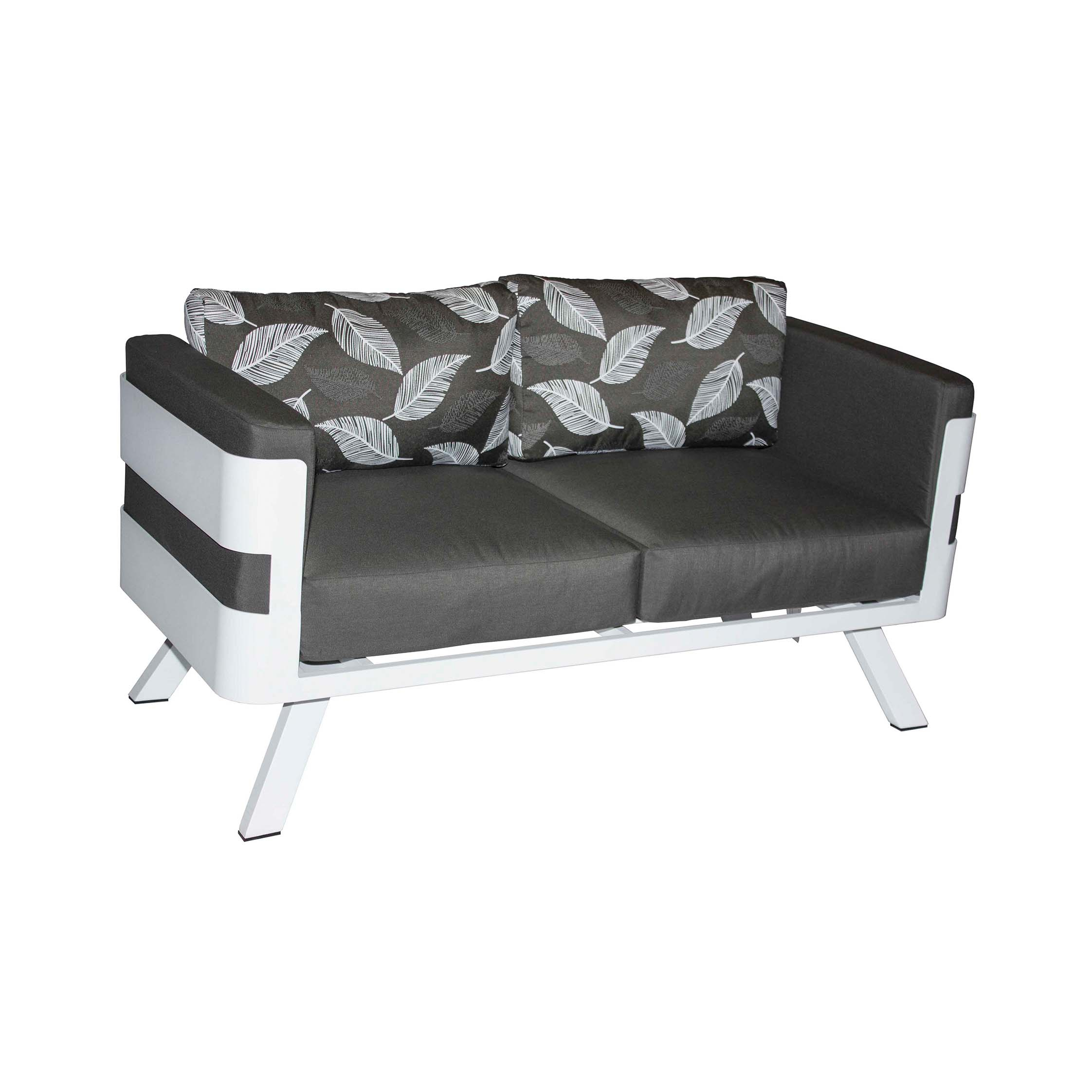 Lesotho 2 Seater Sofa | Patio Warehouse For Allie Dark Grey Sofa Chairs (Image 16 of 25)