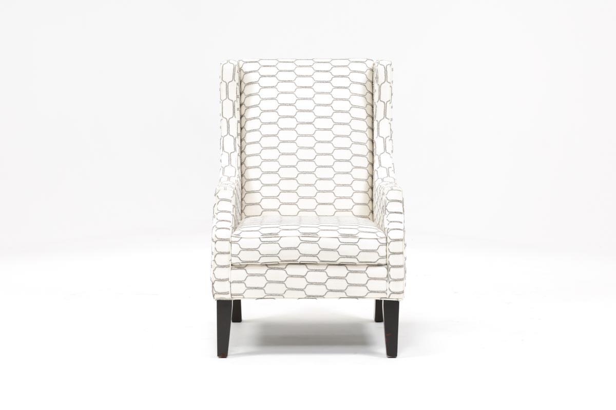 Lewis Zinc Wing Chair | Living Spaces Throughout Chadwick Gunmetal Swivel Chairs (Image 17 of 25)