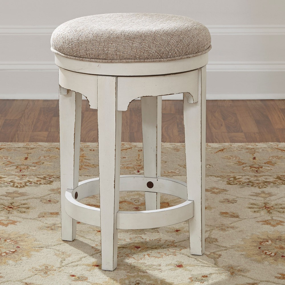 Liberty Furniture Magnolia Manor Console Swivel Stool In Antique Regarding Manor Grey Swivel Chairs (Image 10 of 25)
