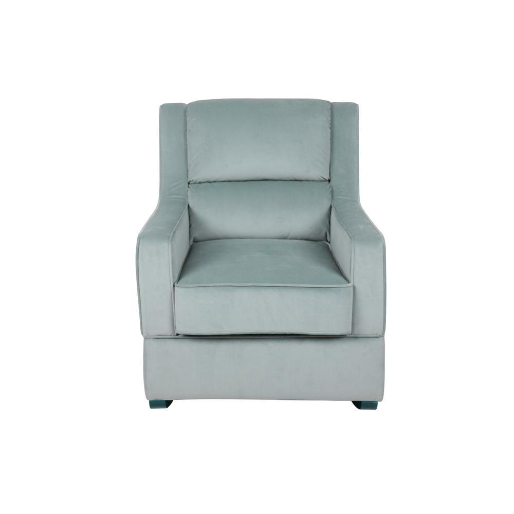 Lifestyle Solutions Riley Nursery Rocking Chair In Light Blue With Regard To Hercules Grey Swivel Glider Recliners (View 15 of 25)
