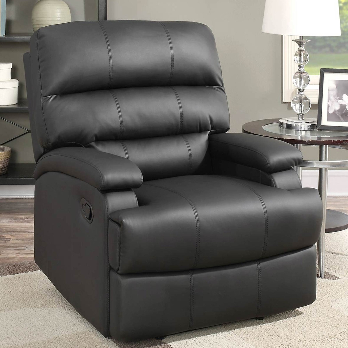 Lifestyle Solutions Rory Reclining Faux Leather Chair | Chairs Regarding Rory Sofa Chairs (Image 9 of 25)