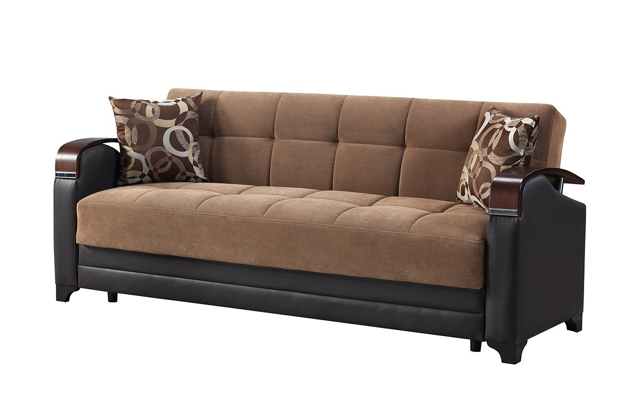 Linda Sofa Bed Marissa Brown – Sofa Beds Star Modern Furniture With Marissa Sofa Chairs (View 12 of 25)