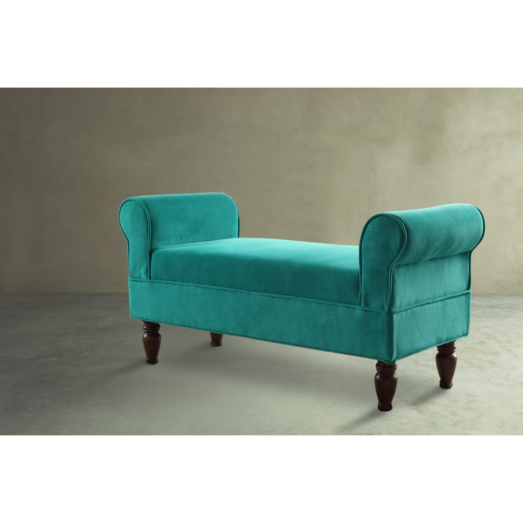 Linon Justine Classic Bench In Emerald Microfiber (Aquamarine Bench Throughout Cohen Foam Oversized Sofa Chairs (View 23 of 25)