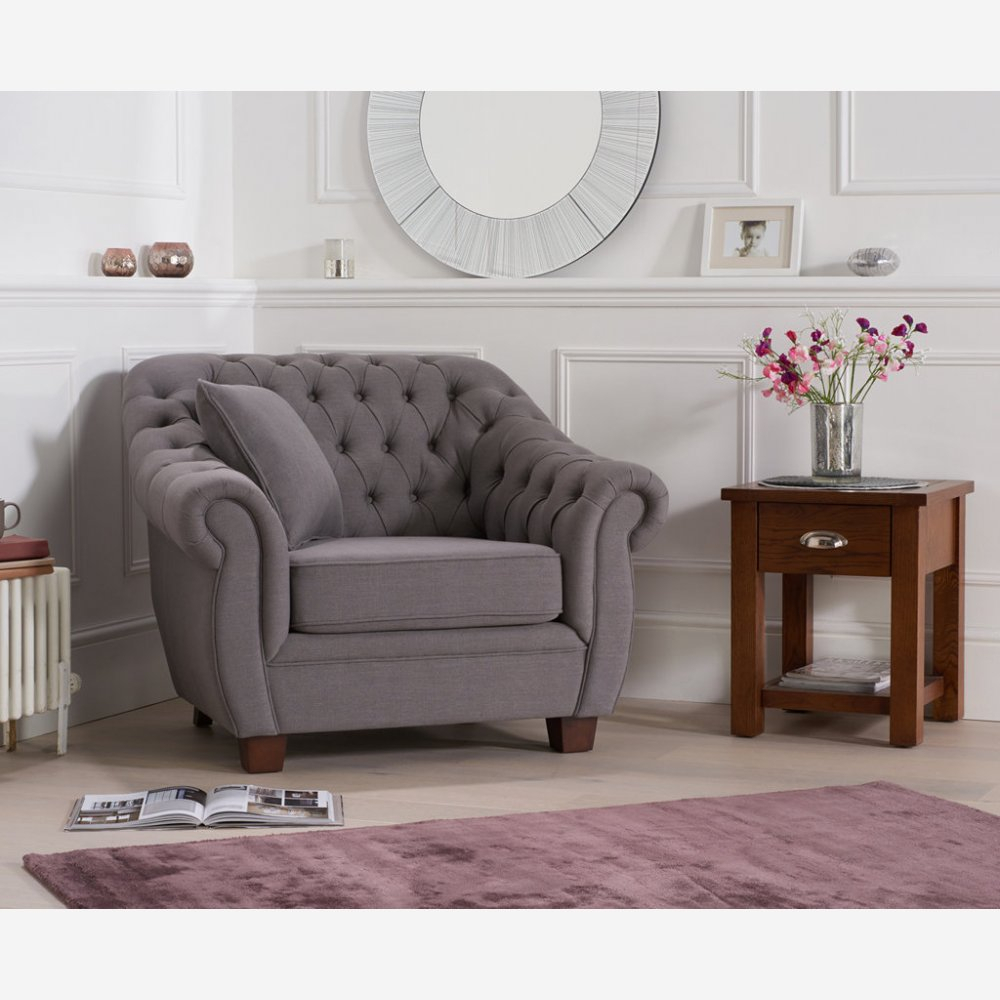 Liv Fabric Armchair – Dark Grey For Liv Arm Sofa Chairs (View 3 of 25)
