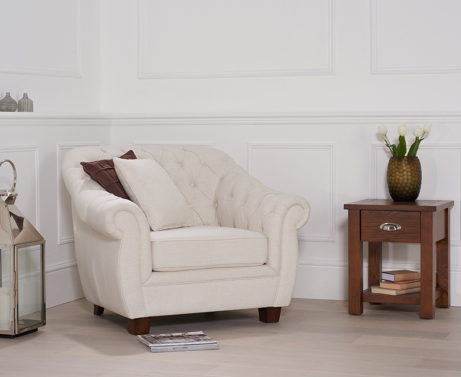 Liv Ivory Armchair – Style Our Home Intended For Liv Arm Sofa Chairs (View 2 of 25)