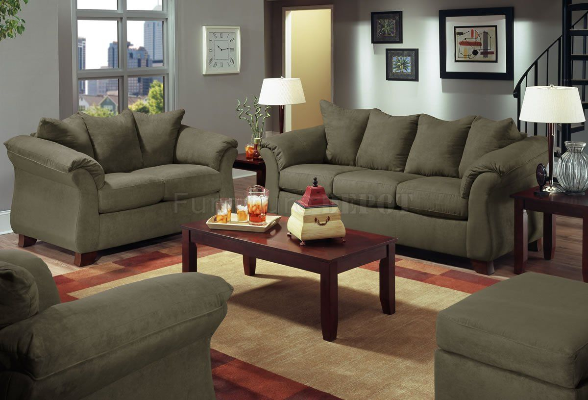 Live Microfiber Modern Sofa & Loveseat Set | Front Room Ideas | Sofa Within Gannon Truffle Power Swivel Recliners (View 14 of 25)