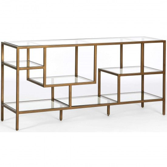 Living Room, Brass Console Table (Image 14 of 25)