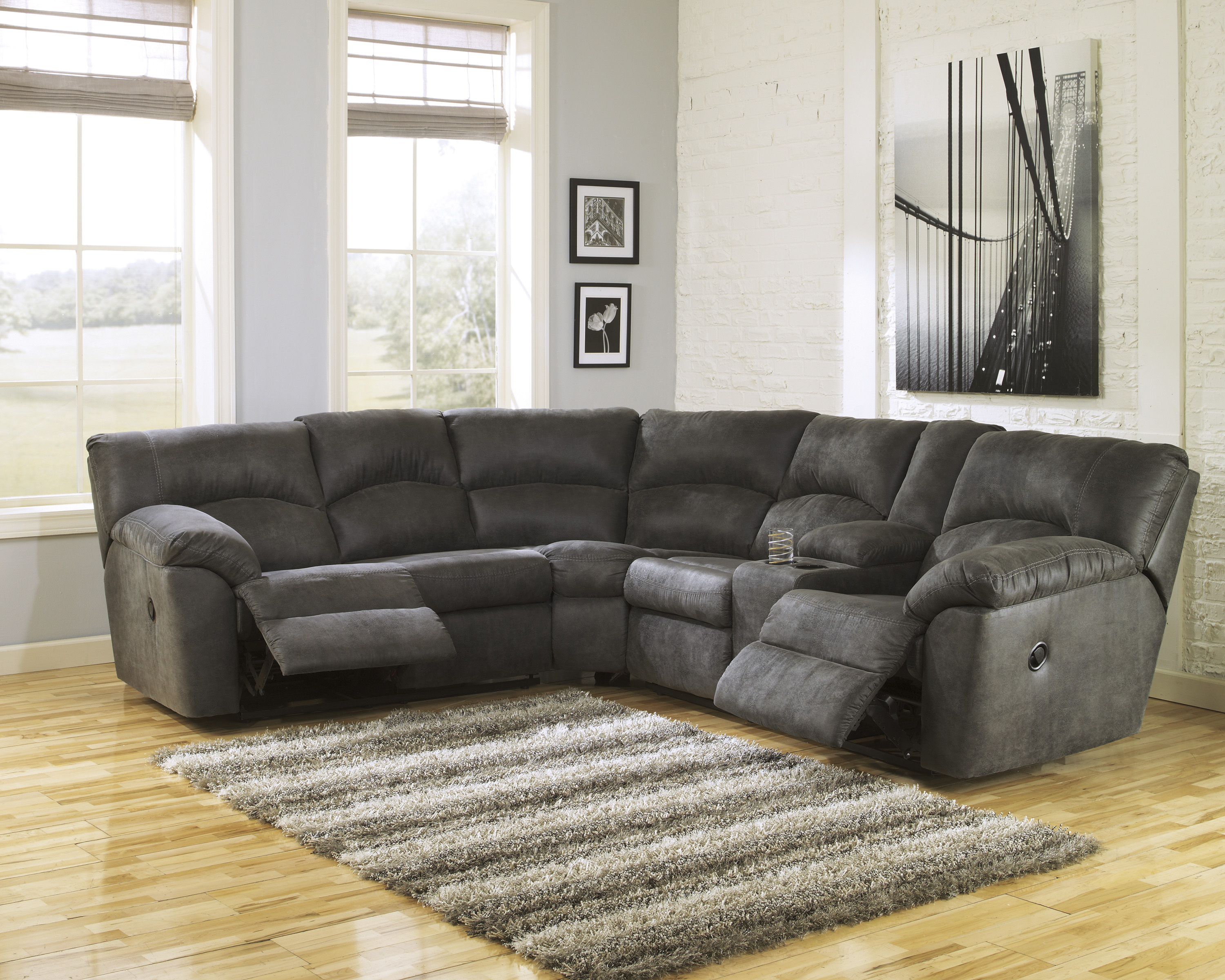 Living Room | Furniture | Big Sandy Superstores | Inside Mansfield Cocoa Leather Sofa Chairs (Image 11 of 25)
