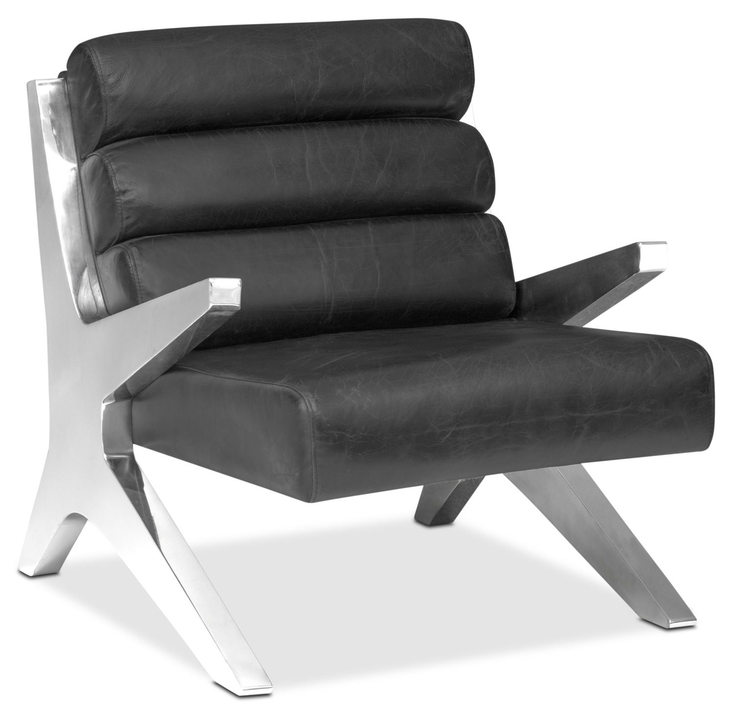 Living Room Furniture – Keanu Accent Chair – Black | Mid Century Within Loft Smokey Swivel Accent Chairs (View 18 of 25)