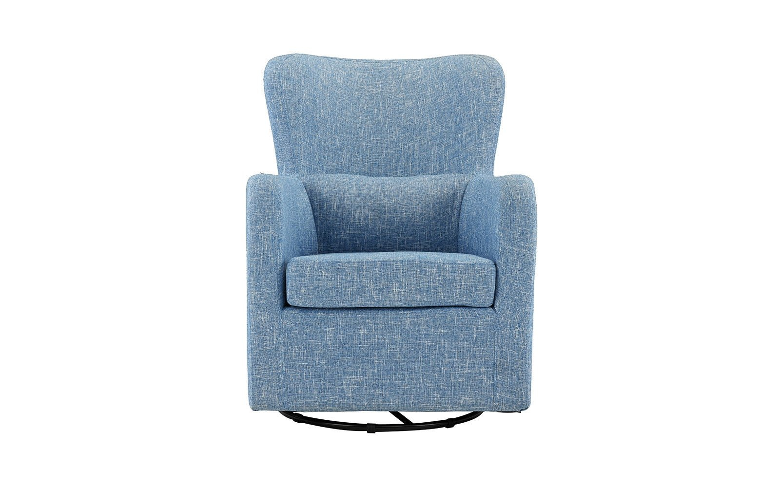 Living Room Home Decor Armchair Rotating Swivel Accent Chair, Linen In Umber Grey Swivel Accent Chairs (View 16 of 25)