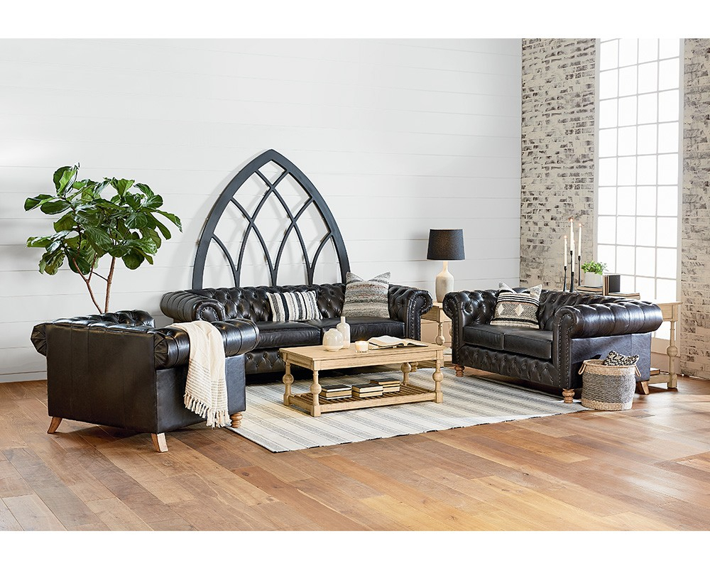 Living Room - Magnolia Home for Magnolia Home Foundation Leather Sofa Chairs