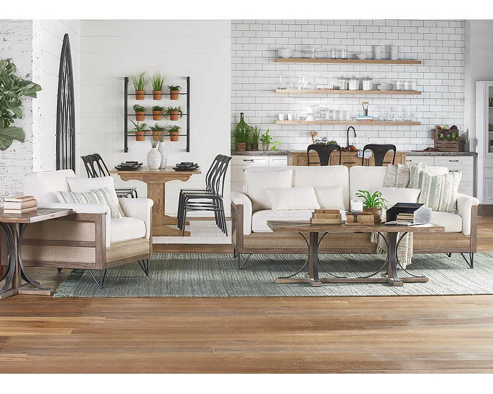 Living Room – Magnolia Home Regarding Magnolia Home Foundation Leather Sofa Chairs (Image 15 of 25)