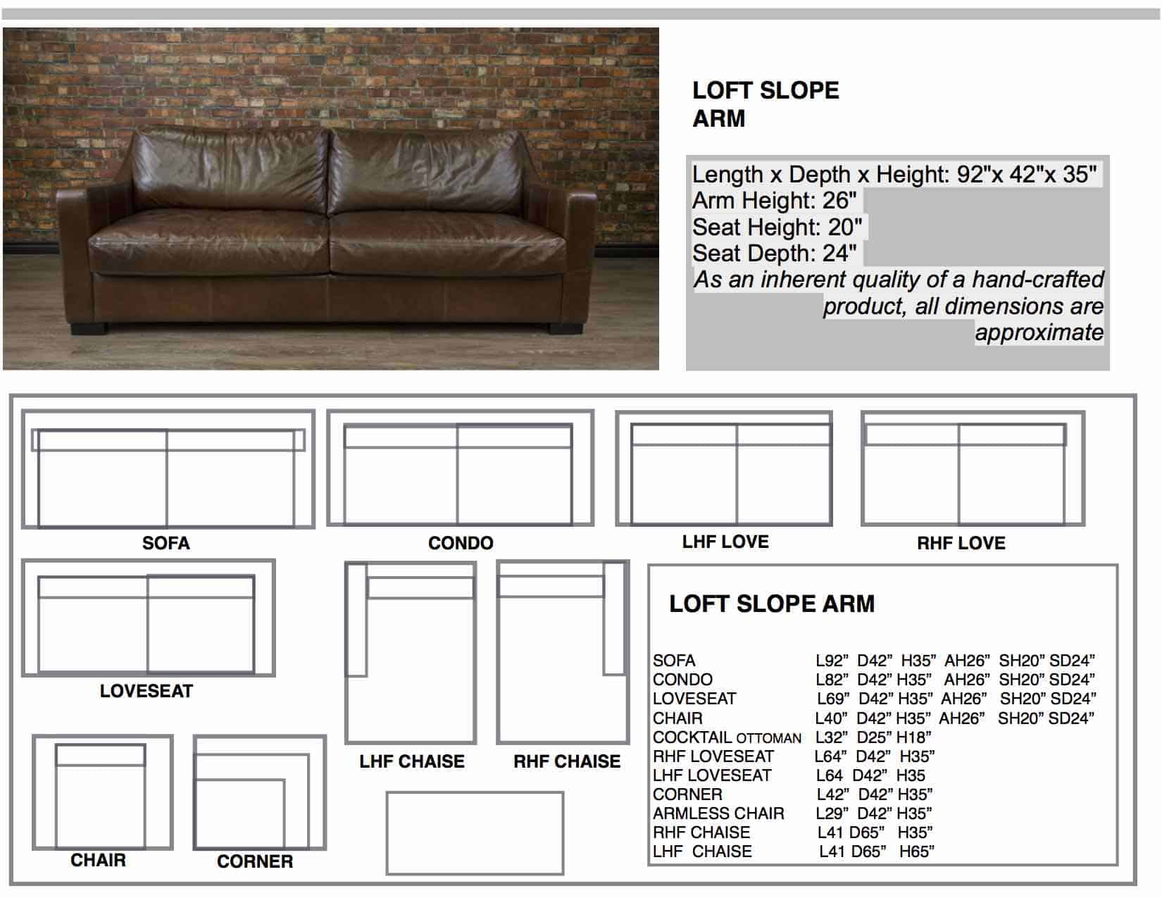 Loft Slope Arm Leather Sofa | Canada's Boss Leather Sofas And Furniture Intended For Loft Arm Sofa Chairs (Image 16 of 25)