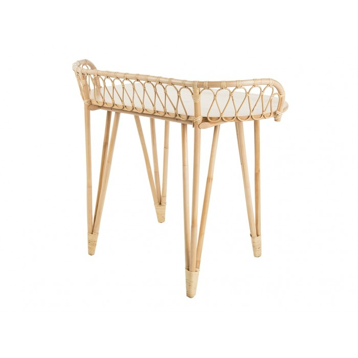 Loop Rattan Console Table, Natural Within Most Recently Released Natural Cane Media Console Tables (View 21 of 25)