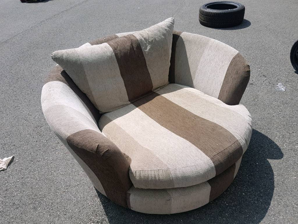 Love Chair Spinning Chair | In Mansfield, Nottinghamshire | Gumtree Within Mansfield Beige Linen Sofa Chairs (Image 8 of 25)