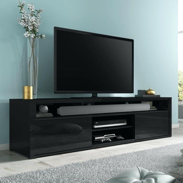 Low Black Tv Stand – Muapp Inside Most Up To Date Flat Screen Tv Stands Corner Units (Image 11 of 25)