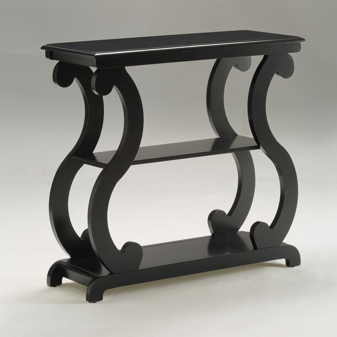 Lucy Black Sofa Table Console | 7915 Bk | Crown Mark With Lucy Dark Grey Sofa Chairs (View 13 of 25)
