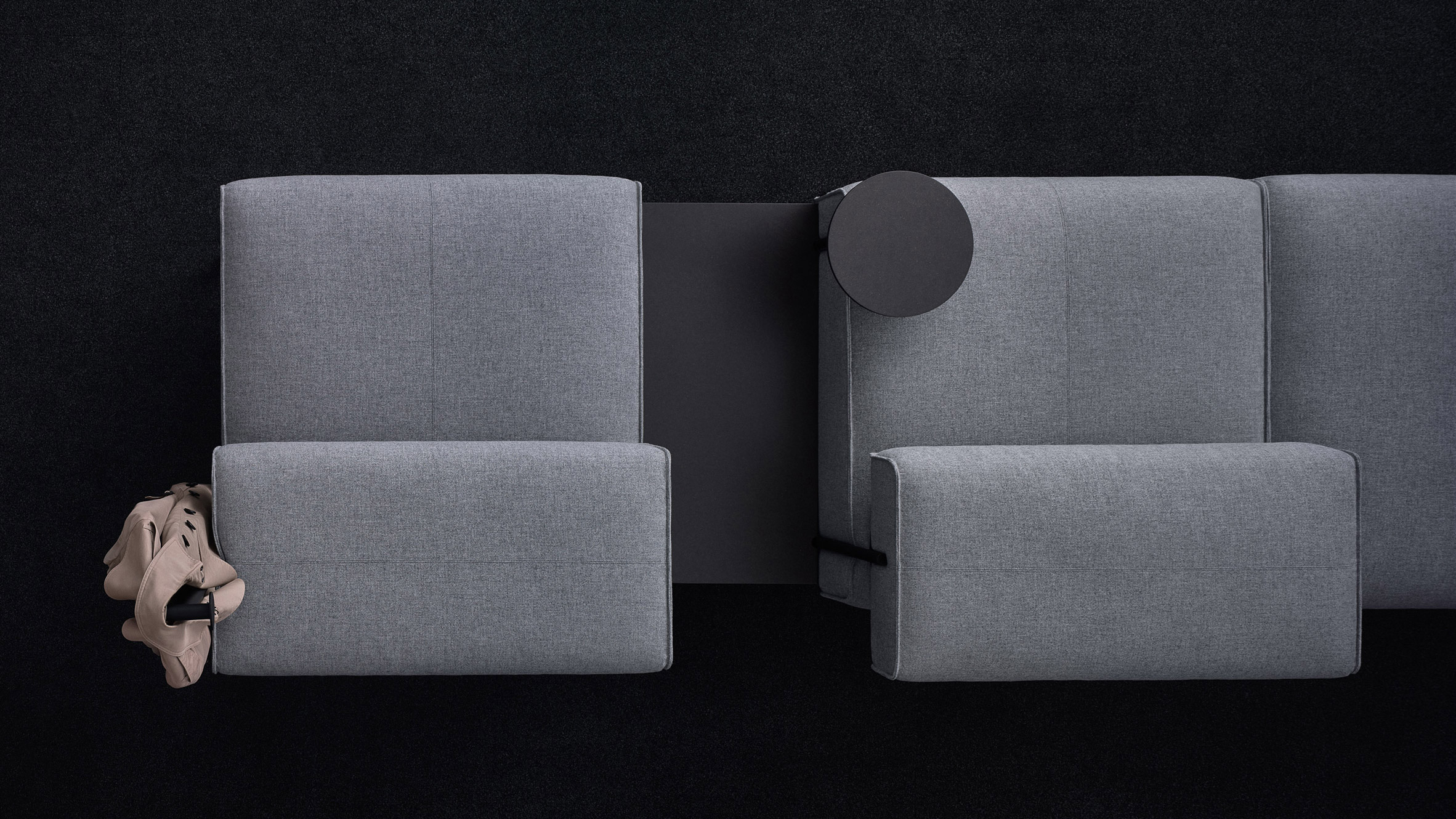 """Lucy Kurrein's Modular Sofa """"rejects The Conventional Working Regarding Lucy Grey Sofa Chairs (View 17 of 25)"""