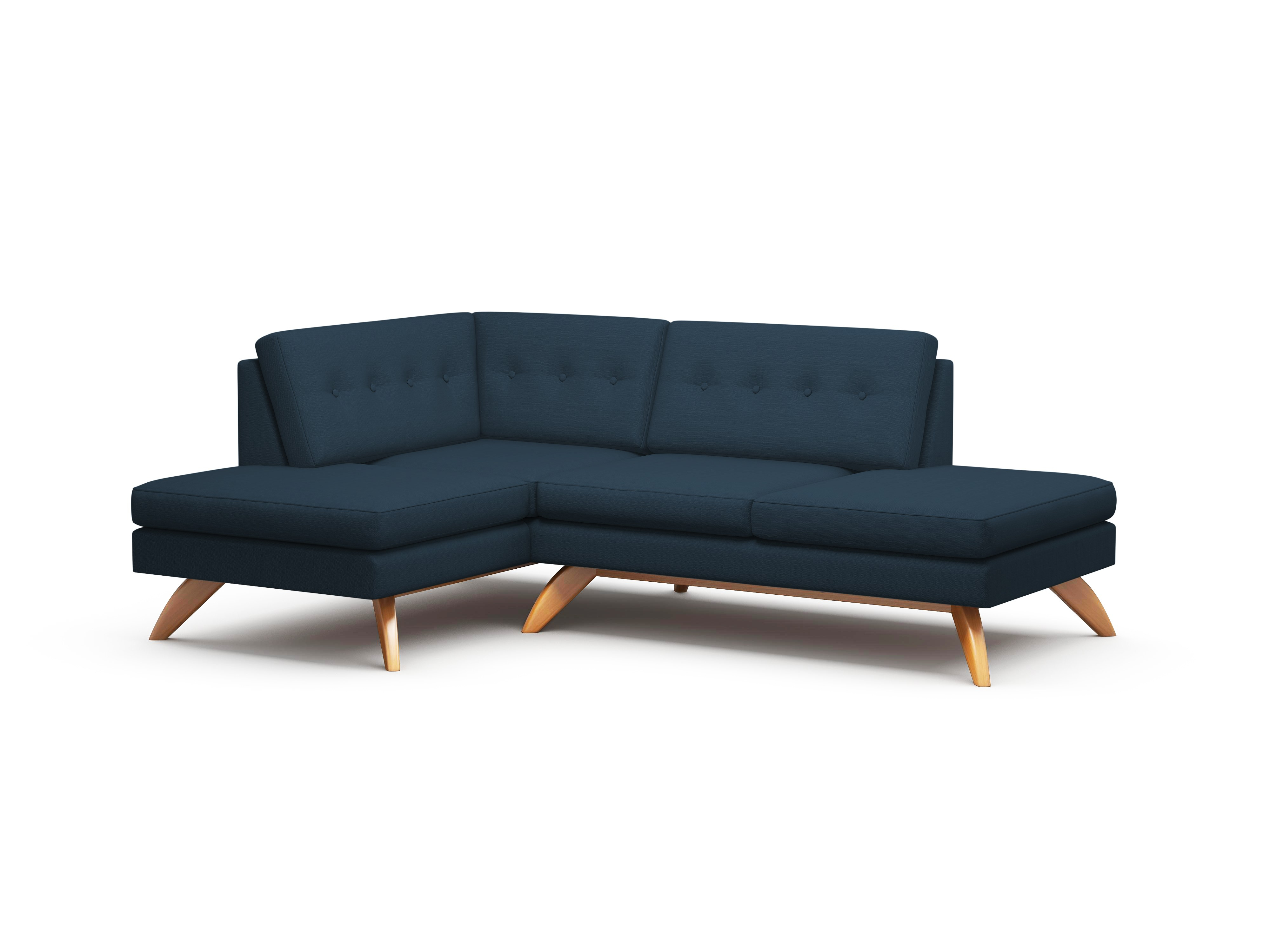 Luna Double Bumper Loft Sofa – Truemodern™ With Regard To Loft Arm Sofa Chairs (Image 18 of 25)
