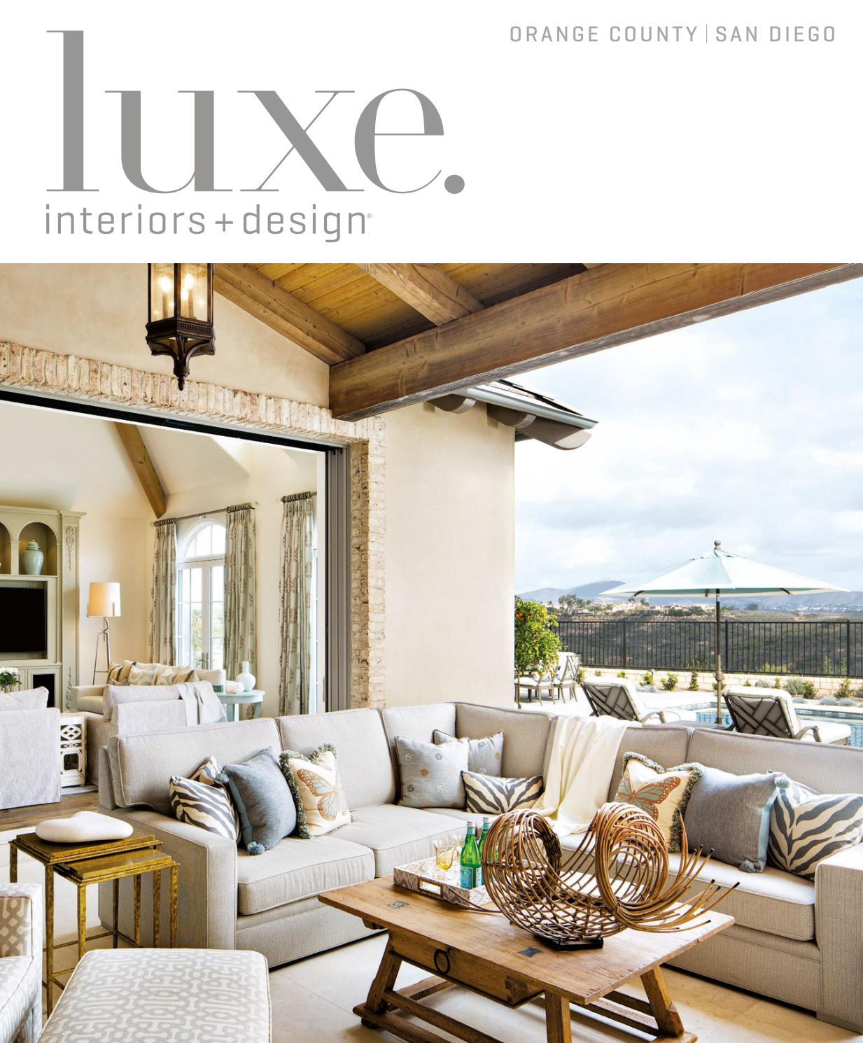Luxe Magazine March 2017 Orange County/san Diegosandow® – Issuu Intended For Chadwick Tomato Swivel Accent Chairs (View 15 of 25)
