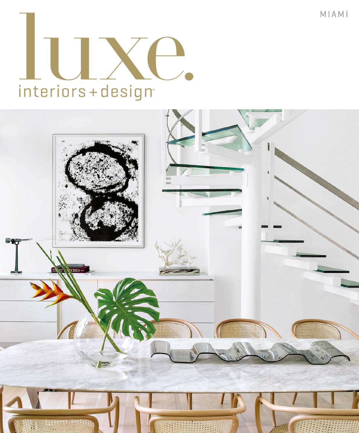 Luxe Magazine November 2015 Miamisandow® – Issuu Pertaining To Chadwick Tomato Swivel Accent Chairs (View 17 of 25)