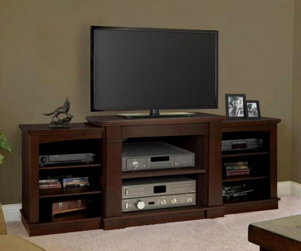 Luxurious Walker Edison Furniture Company Essentials Driftwood Fire Throughout Widely Used Annabelle Blue 70 Inch Tv Stands (View 23 of 25)
