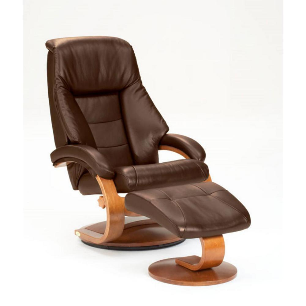Mac Motion Oslo Collection Espresso Top Grain Leather Swivel Intended For Espresso Leather Swivel Chairs (Image 20 of 25)