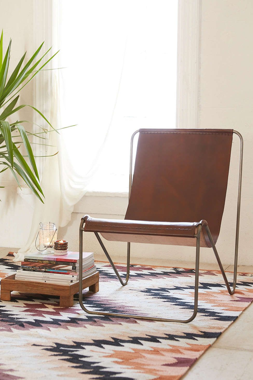 Maddox Leather Sling Chair | Chairs | Pinterest | Chair, Leather In Maddox Oversized Sofa Chairs (View 6 of 25)