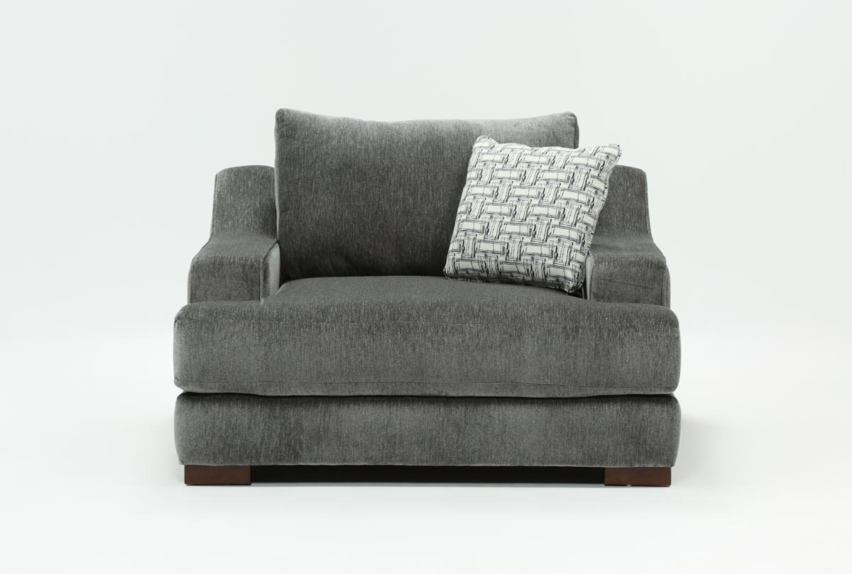 Maddox Oversized Chair | Living Spaces Regarding Sheldon Oversized Sofa Chairs (View 3 of 25)