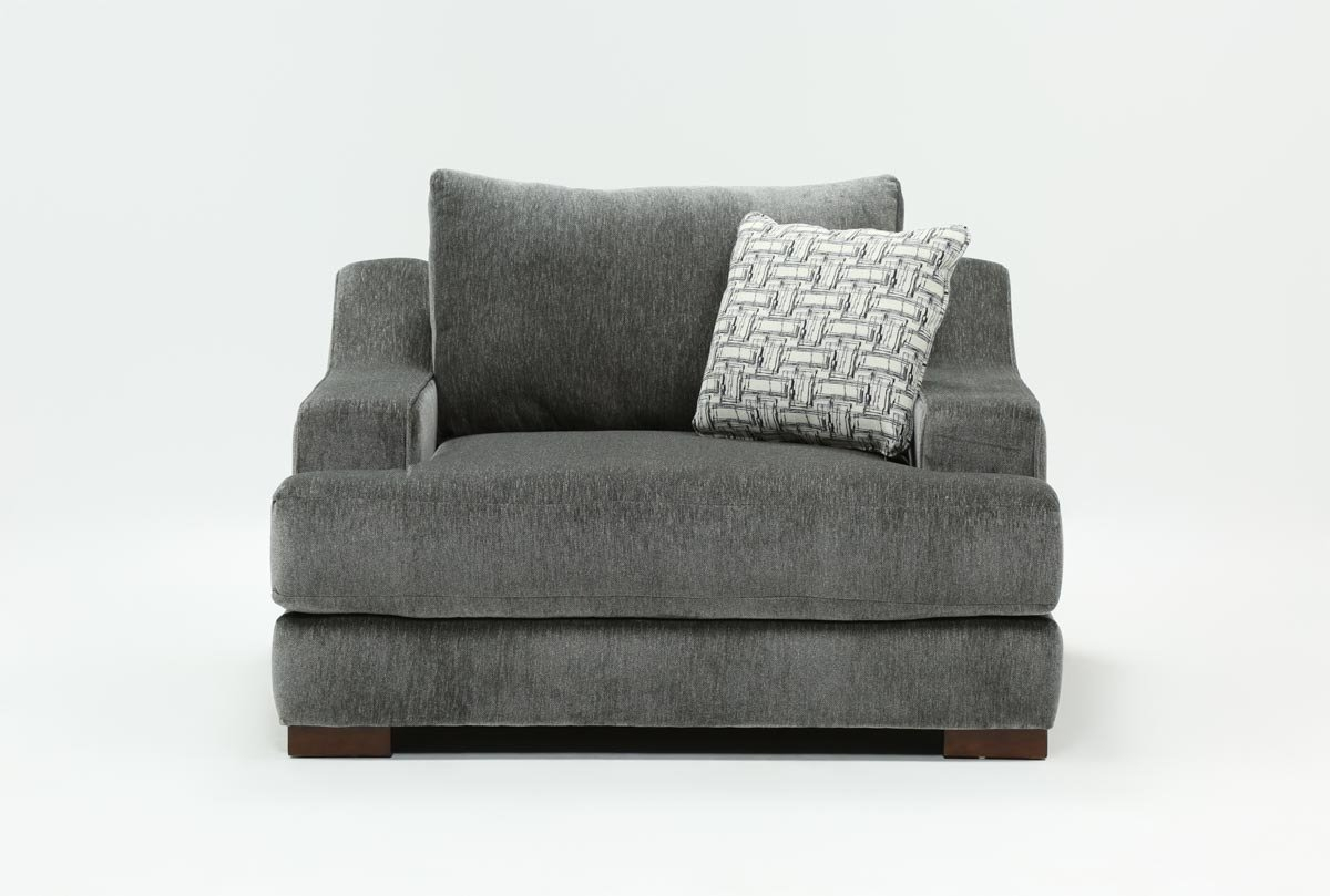 Maddox Oversized Chair | Living Spaces Within Harper Down Oversized Sofa Chairs (View 7 of 25)