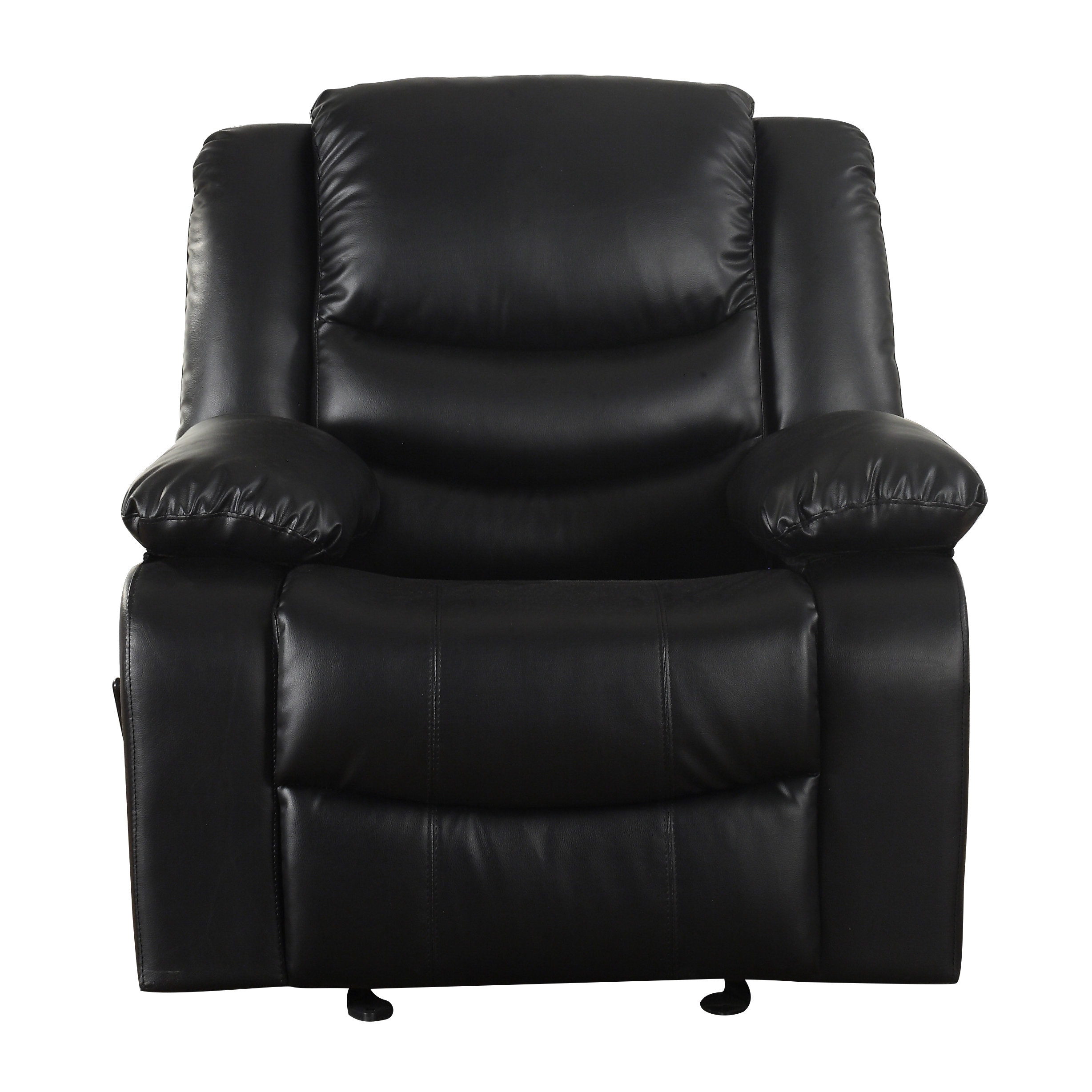 Madison Home Usa Classic Overstuffed Manual Rocker Recliner Regarding Dale Iii Polyurethane Swivel Glider Recliners (Image 16 of 25)
