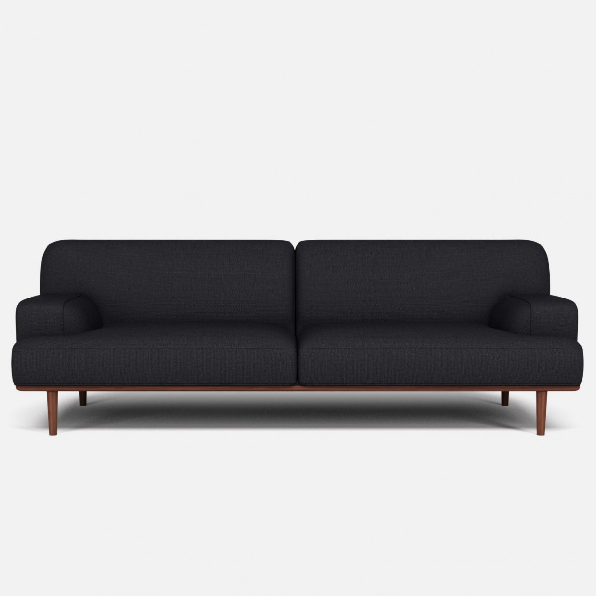 Madison Velvet Sofa 3 Seaters London Dark Grey – Bolia With London Dark Grey Sofa Chairs (Image 14 of 25)