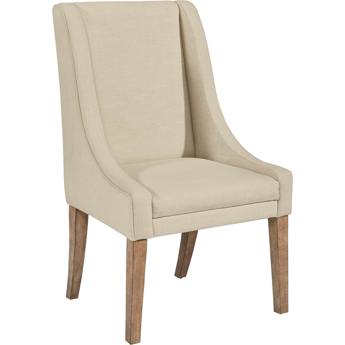 Magnolia Home Demi Wing Linen Upholstered Side Chair 2 Pk (Image 12 of 25)
