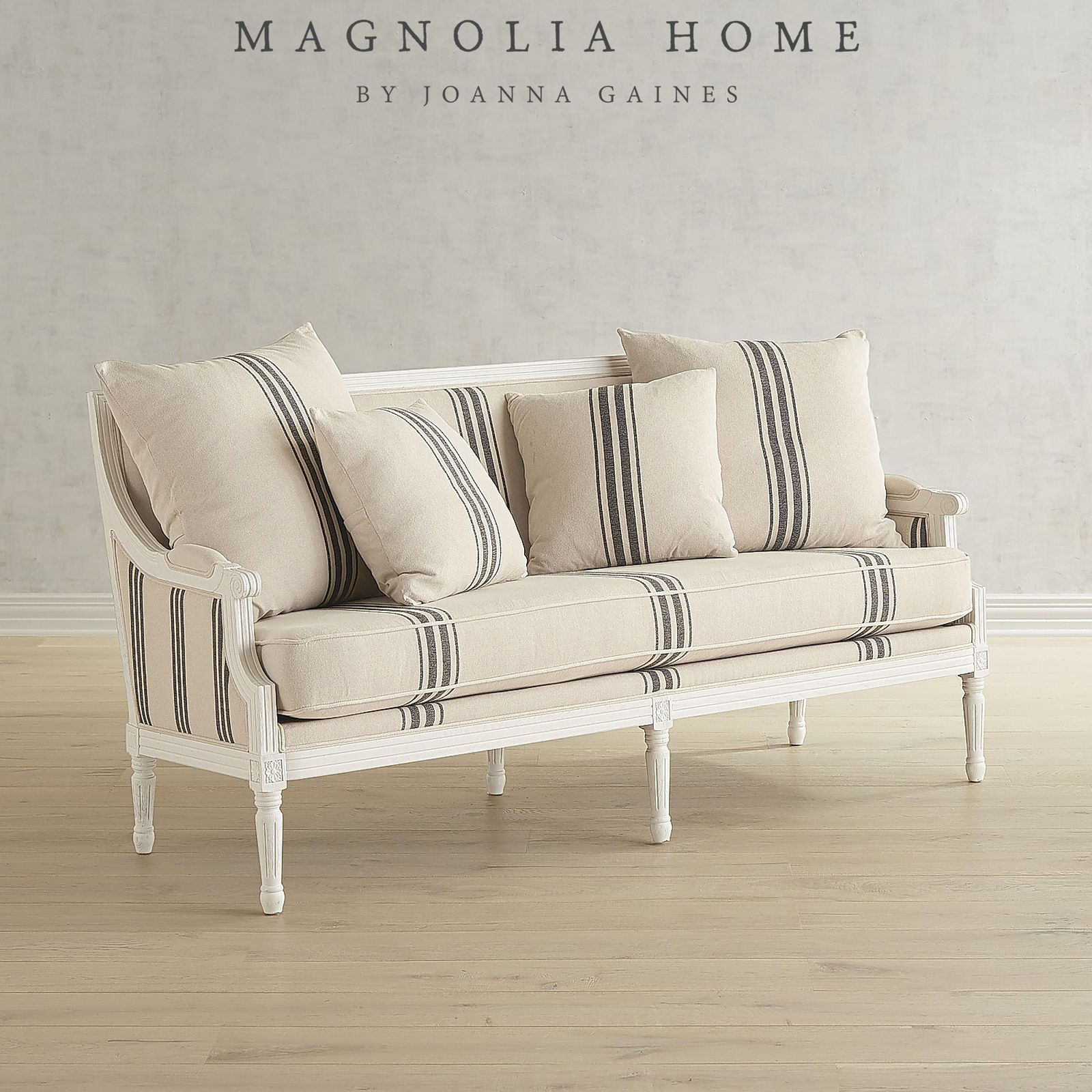Magnolia Home Parlor White Settee | Pier 1 Imports | Misc (View 8 of 25)