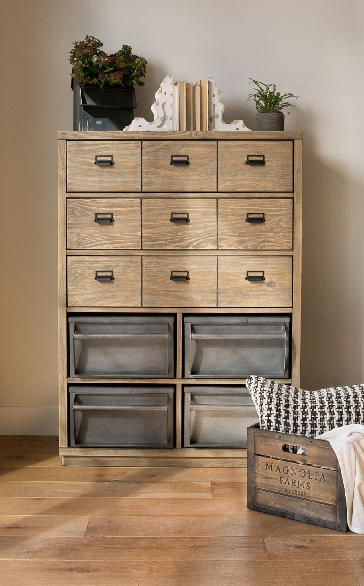 Magnolia Home Workshop Chest With Metal Binsjoanna Gaines With Magnolia Home Paradigm Sofa Chairs By Joanna Gaines (View 24 of 25)