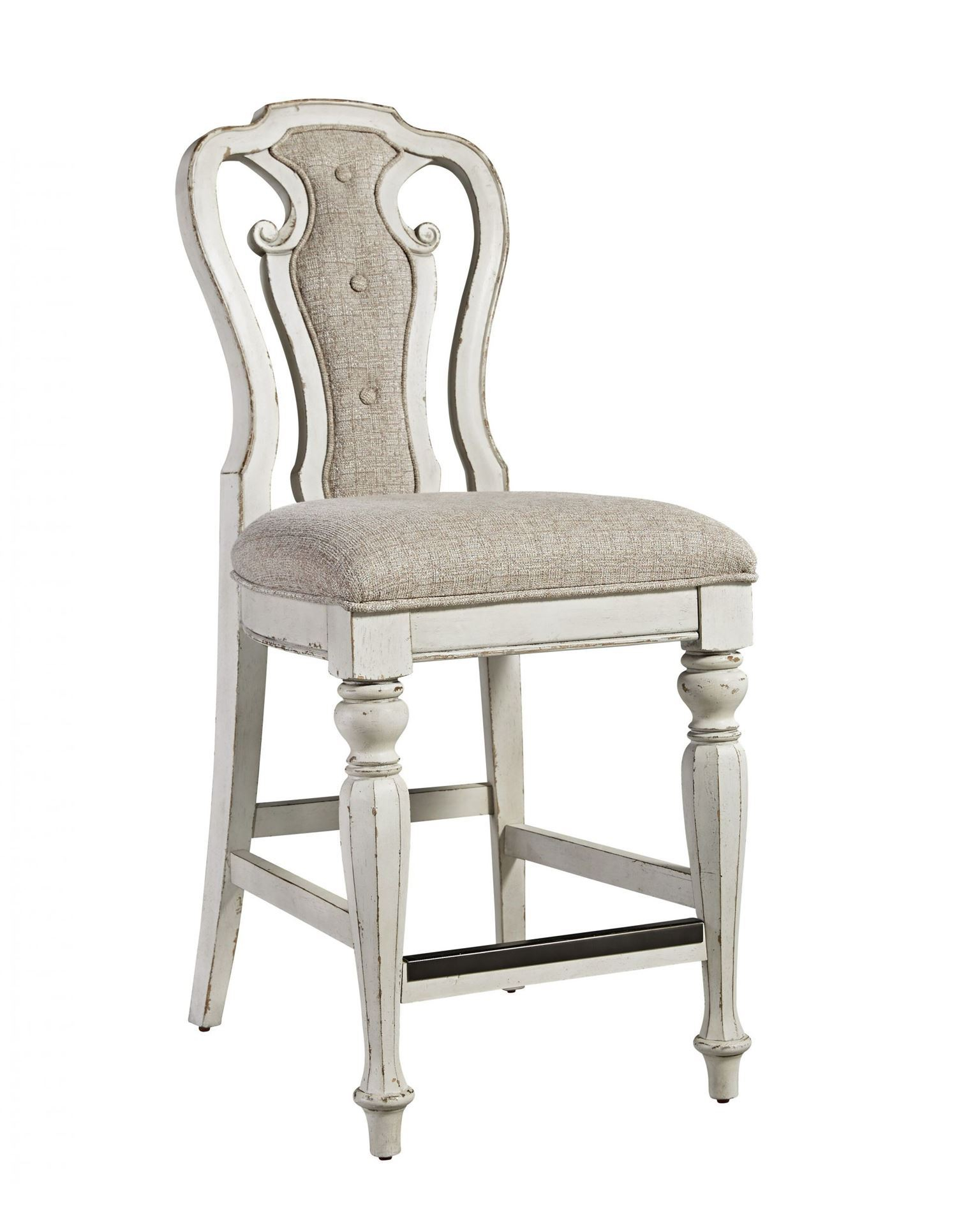 "Magnolia Manor 24"" Stool – Woodstock Furniture & Mattress With Regard To Manor Grey Swivel Chairs (Image 11 of 25)"